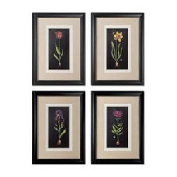 Uttermost - Uttermost Springtime Flowers Wall Art, Set of 4 - 41396 - -Uttermost's floral art combines premium quality materials with unique high-style design.