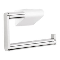 Blomus - Sento Toilet Paper Holder - High gloss white mounting bracket holds single roll toilet tissue. Interior innovation award 2012 winner. Made from 18/8 brushed stainless steel. 5.12 in. W x 1.65 in. D x 3.35 in. H. Includes mounting hardware. Floz designer. Imported from Italy. Installation InstructionsThe new blomus Sento bathroom collection allows you to coordinate all bath accessories in style.