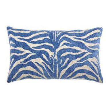 """New Elaine Smith Pillows - Buenos Aires Zebra Azul - 12"""" x 19"""" Elaine Smith Pillows"""