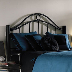 "FBG - Linden Metal Headboard - The Linden is definitely a bed that makes a statement. The bold, dynamic sweep of the headboard, the heft of the cylindrical bed posts and the striking matte Ebony finish give this bed a presence even before any bed linens are placed on its sturdy frame. This dramatic canvas is perfectly neutral and can stand up to any decor, from strong colors to wild patterns, this bed will take anything you can lay on it. Features: -Linens and mattress are not included.-Ebony metal finish.-Headboards collection.-Gloss Finish: No.-Frame Material: Metal.-Upholstered: No.-Powder Coated Finish: Yes.-Hardware Material: Metal.-Non Toxic: Yes.-Scratch Resistant: No.-Adjustable Height: No.-Lighting Included: No.-Wall Mounted: No.-Reversible: No.-Hardware Finish: Ebony.-Finished Back: Yes.-Distressed: No.-Hidden Storage: No.-Freestanding: No.-Frame Required: Yes.-Frame Included: No.-Drill Holes for Frame: Yes.-Collection: Linden.-Swatch Available: No.-Eco-Friendly: No.-Product Care: Wipe with a clean, damp cloth.-Recycled Content: No.Specifications: -EPP Compliant: No.-CPSIA or CPSC Compliant: Yes.-ASTM Certified: No.-ISTA 3A Certified: Yes.-General Conformity Certificate: Yes.-Green Guard Certified: No.Dimensions: -Overall Height - Top to Bottom (Size: Twin): 50.875"".-Overall Height - Top to Bottom (Size: Full): 54.25"".-Overall Height - Top to Bottom (Size: Queen): 54.25"".-Overall Height - Top to Bottom (Size: Full): 54.25"".-Overall Width - Side to Side (Size: Twin): 40.5"".-Overall Width - Side to Side (Size: Queen): 62.5"".-Overall Width - Side to Side (Size: King): 78.5"".-Overall Width - Side to Side (Size: Full): 55.5"".-Overall Depth - Front to Back (Size: Twin): 3"".-Overall Depth - Front to Back (Size: Full): 3"".-Overall Depth - Front to Back (Size: Queen): 3"".-Overall Depth - Front to Back (Size: King): 3"".-Overall Product Weight (Size: Twin): 23 lbs.-Overall Product Weight (Size: Queen): 29 lbs.-Overall Product Weight (Size: King): 33 lbs.-Overall Product Weight (Size: Full): 26 lbs.-Top of Headboard to Bed Frame (Size: Twin): 28.25"".-Top of Headboard to Bed Frame (Size: Full, Queen, King): 31.625"".-Bottom of Headboard to Floor (Size: Twin): 22.25"".-Bottom of Headboard to Floor (Size: Full, Queen, King): 22.625"".Assembly: -Assembly Required: Yes.-Tools Needed: Tools included.-Additional Parts Required: No.Warranty: -Covered by 10 year limited manufacturer''s warranty."