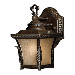 Hinkley Lighting - Hinkley Lighting HK-1936RB-LED Brynmar Outdoor - Gorgeous details add drama to Brynmar's classic cast aluminum design. The decorative cast leaf and cross-hatch detailing in a Regency Bronze finish complement the stylish amber linen glass.