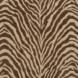 Momeni - Momeni Deco Animal Prints Zebra Brown 3' x 5' Rug by RugLots - Contemporary designs in a rich color palette give Deco its edge. Power-loomed of 100% New Zealand wool, this collection features hand-serged edges and hand-carving for added depth.
