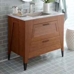 Native Trails - Trinidad 36-Inch Vanity Suite | Native Trails - Made by Native Trails.The Trinidad 36-inch Vanity Suite combines enduring style and quality craftsmanship into one all-inclusive package. The sustainable bamboo vanity has a marble top that holds an artisan-crafted vessel sink with a one-of-a-kind texture. A coordinating hammered-copper mirror with an integrated bamboo storage shelf add even more functionality to this versatile set.  Product Features: