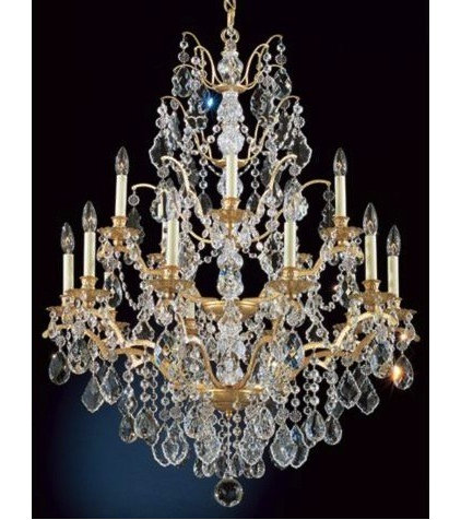 traditional chandeliers Schonbek Historical Bordeaux Legacy French Gold Chandelier