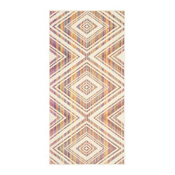 """Safavieh - Ala Indoor/Outdoor Rug, Natural / Multi 2'7"""" X 5' - Construction Method: Power Loomed. Country of Origin: Eqypt. Care Instructions: Easy To Clean. Just Rinse With A Garden Hose.."""
