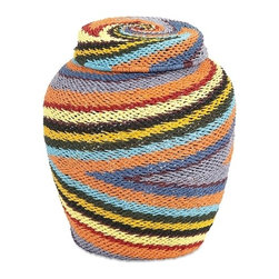 IMAX CORPORATION - Saran Lidded Basket - Charm your guests with this striking snake charmer basket. Expertly woven from paper rope in a brightly colored graphic swirl pattern, this lidded basket is great for storing all kinds of things other than snakes!. Find home furnishings, decor, and accessories from Posh Urban Furnishings. Beautiful, stylish furniture and decor that will brighten your home instantly. Shop modern, traditional, vintage, and world designs.
