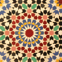 """Fassi Moroccan Mosaic Tile - The 1-20 Fassi is a ceramic mosaic tile pattern, handmade by our artisans in Morocco. It comes on interlocking sheets with a solid backing sized 12 5/8"""" x 12 5/8"""" x 5/8"""" (32cm x 32cm x 1,4cm). All colors can be fully customized."""