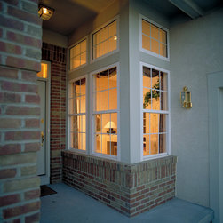 Exterior Window - Sears Home Services offers a variety of window styles to choose from. Each style you choose for your home will be custom fit to the specific window frame dimensions of your home. From beautiful bay windows, to sliding and box windows, we have a style that fits each area of your home.