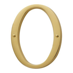 Baldwin Hardware - 4.75 in. Flush Mount Number 0 in Lifetime Polished Brass (90670.003.CD) - Feel the difference - Baldwin hardware is solid throughout, with a 60 year legacy of superior style and quality. Baldwin is the choice for an elegant and secure presence.