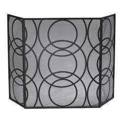 Cyan Design - Cyan Design Orb Fire Screen X-05310 - A fine mesh screen has been paired with contemporary patterning for a modern look to this Cyan Design fire screen. From the Orb Collection, the layered rings feature multiple sizes for added interest. The entire body has been created with iron and finished in an Old World hue.