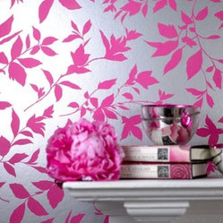 Midsummer Pink Floral Wallpaper