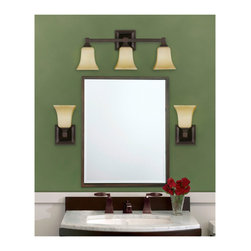 3- Light Vanity Fixture - 3- Light Vanity Fixtre, Oil Rubbed Bronze by Feiss