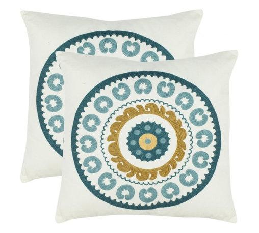 Safavieh - Sunder Accent Pillow  - Blue - Sunder Accent Pillow  - Blue