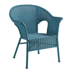 Casbah Chair, Ocean - Need an extra seating area on your deck or patio? A few of these will do the trick. I love their smaller scale and clean lines, and that teal color is just beautiful.