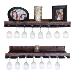 (del)Hutson Designs - Rustic Luxe Tiered Glass Rack- Set of 2 - This is for a set of 2 shelves
