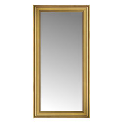 "Posters 2 Prints, LLC - 27"" x 52"" Arqadia Gold Traditional Custom Framed Mirror - 27"" x 52"" Custom Framed Mirror made by Posters 2 Prints. Standard glass with unrivaled selection of crafted mirror frames.  Protected with category II safety backing to keep glass fragments together should the mirror be accidentally broken.  Safe arrival guaranteed.  Made in the United States of America"