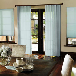 Levolor Perceptions Soft Vertical Shades - Levolor presents a beautiful window covering that functions as a light filtering drapery and a room darkening shade all in one. Perfect for adding ambience to formal rooms or casual settings, Levolor Perceptions Room Darkening Sheers are the most versatile window covering for any decor. Choose from a wide variety of fabric, valance, and control options that fit any room. Levolor's Perceptions are designed to coordinate with a variety of other Levolor products, including cellular shades and fabric vertical blinds, for a continuous decor throughout your home.