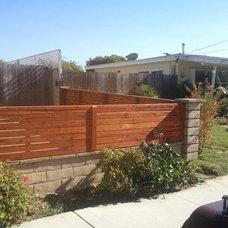 Modern Fencing by BB Custom Redwood