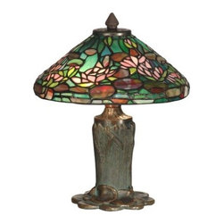 Dale Tiffany - Dale Tiffany TT10334 Floral Leaf Tiffany Table Lamp - Dale Tiffany TT10334 Floral Leaf Tiffany Table Lamp with 2 LightsBring a fresh sense of style to your room with this beautiful Floral Leaf Tiffany Table Lamp with 2 Lights. This table lamp by Dale Tiffany utilizes a magnificent Antique Bronze / Verde finish. This lamp is a perfect way to illuminate your home.Dale Tiffany TT10334 Features: