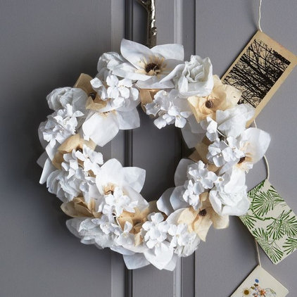Contemporary Wreaths And Garlands by West Elm