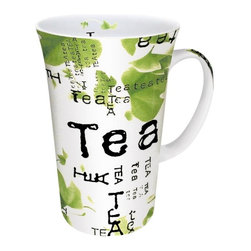 Konitz - Set of 4 Mega Mugs Tea Collage - Any time can be tea time - enjoy your daily tea ritual with the Tea Collage Mega Mugs. Contemporary tea leaf graphics against black print make this set a must-have for your favorite, freshly-brewed teas. Whether you�re drinking organic green or calming mint, you�ll love our high-quality porcelain, which keeps your beverages hot for long-lasting flavor.