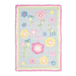 Safavieh - Kids Safavieh Kids 2'x3' Rectangle Blue - Multi Color Area Rug - The Safavieh Kids area rug Collection offers an affordable assortment of Kids stylings. Safavieh Kids features a blend of natural Blue - Multi Color color. Hand Tufted of Wool the Safavieh Kids Collection is an intriguing compliment to any decor.