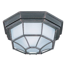 Maxim Lighting - Maxim Lighting 87920RP Flush Mount EE Traditional Outdoor Ceiling Mount Light - Maxim Lighting 87920RP Flush Mount EE Traditional Outdoor Ceiling Mount Light In Rust Patina