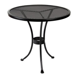 """Standard Mesh 30"""" Round Dining Table - Dimensions -"""
