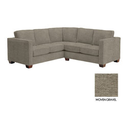Apt2B - Catalina 2pc L-Sectional Sofa, Woven Gravel - The Catalina Collection is the perfect choice for a look that never goes out of style. It's simple and sleek design features a high track arm, and wooden blocked feet.