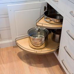 Bensen St. Kitchen - Lemans 2 blind corner pullout shelves