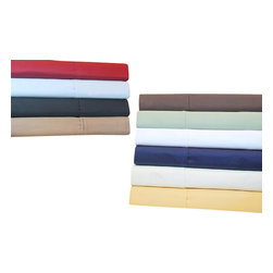 Bed Linens - Egyptian Cotton 530 Thread Count Solid Sheet Sets Twin Chocolate - 530 Thread Count Solid Sheet Sets