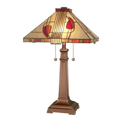 Dale Tiffany - Dale Tiffany 2721/739 Henderson 2-Light Table Lamps in Antique Bronze - Henderson Table Lamp