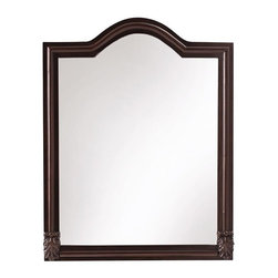 Home Decorators Collection - Kendall Mirror - The arched shape and beveled molding of our Kendall Mirror will complete the sophisticated look of your bath. Try one at each sink to ease and augment your morning prep. Antique finish. Handcrafted details.