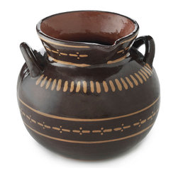 Mexican Hot Chocolate Server - A large hand-crafted pot designed to hold your hot cocoa and meant to be used with a molinillo.