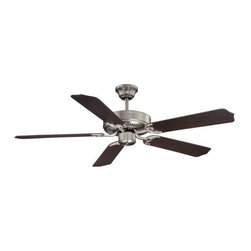 Savoy House - Savoy House Builder Specialty Ceiling Fan in Satin Nickel - Savoy House Builder Specialty Model SV-52-FAN-5CN-SN in Satin Nickel with Chestnut Finished Blades.