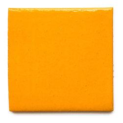 68 Vivid Orange (Glossy Finish) - Handmade Ceramic Tile - Handmade Ceramic Tile
