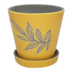 SONOMA Outdoors Ceramic Flower Pot - Bring a little pop of sunshine indoors with this petite flower pot. I'd place it in the kitchen to try my hand at growing herbs.