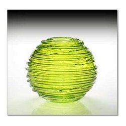 "William Yeoward - William Yeoward Sophie Vase 11"" Citrine - Sophie is a stunning spherical vase in vibrant colour with trailing glass around the bowl."
