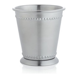 Mint Julep Cup - Use mint julep cups for the real deal, then later for flowers or even forks when you have a party. I have one on my desk to hold pens.