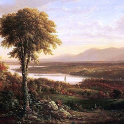 "Henry Ary View of the Catskills from the South Side of Mount Merino - 16"" x 24"" - 16"" x 24"" Henry Ary View of the Catskills from the South Side of Mount Merino premium archival print reproduced to meet museum quality standards. Our museum quality archival prints are produced using high-precision print technology for a more accurate reproduction printed on high quality, heavyweight matte presentation paper with fade-resistant, archival inks. Our progressive business model allows us to offer works of art to you at the best wholesale pricing, significantly less than art gallery prices, affordable to all. This line of artwork is produced with extra white border space (if you choose to have it framed, for your framer to work with to frame properly or utilize a larger mat and/or frame).  We present a comprehensive collection of exceptional art reproductions byHenry Ary."