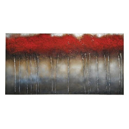 """Ren Wil - Ren Wil OL137 Crimson Forest Botanical Abstraction 30"""" x 60"""" Wall Art by Patrick - Features:"""