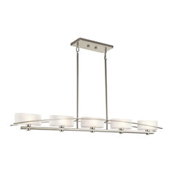 Kichler Lighting - Kichler Lighting 42018NI Suspension Brushed Nickel Island Light - Kichler Lighting 42018NI Suspension Brushed Nickel Island Light