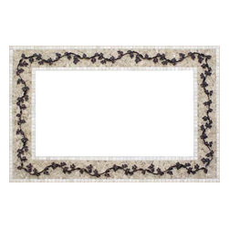 Landmark Metalcoat - Landmark Metalcoat Mosaic Mirror Frame Wandering Vine, Brass Antique Patina - All Landmark Metalcoat products are made to order. lead time 3 -5 weeks. Proudly made in the USA. Mesh mounted for easy installation.