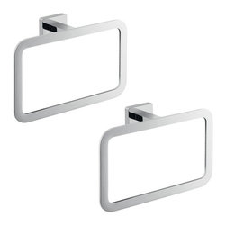 Gedy - Two Piece Chrome Accessory Towel Ring Set - .