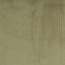 Green Stripe Corduroy Velvet Upholstery Fabric By The Yard - This velvet fabric has a unique corduroy pattern. This fabric is durable, easy to clean and is great for indoor upholstery.