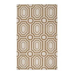 "Surya - Surya Hudson Park HDP-2015 (Old Gold, Winter White) 3'3"" x 5'3"" Rug - With contemporary color scheme, Surya's Hudson Park collection is a unique blend of chic area rugs. Designed by Angelo Surmelis and hand-tufted in China this area rug is sure to be a great accent piece for any casual or formal area."