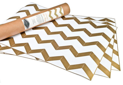 Gold Chevron Drawer Liner, by Hammocks & High Tea