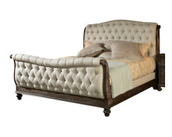 American Drew - American Drew Jessica McClintock Boutique Sleigh Bed in Baroque - King - Sleigh Bed in Baroque belongs to Jessica McClintock Boutique collection by American Drew