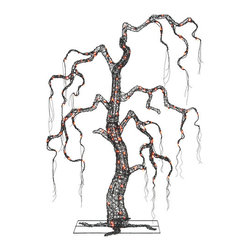 Shop 5' Indoor/Outdoor Halloween Decorative Artificial Tree with Orange Lights - I would love to put this behind the couch in the living room or family room. It's a large artificial tree with lights that could really light up the room with Halloween spirit.
