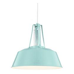 Feiss - Feiss P1304SHBL Freemont 1 Light Hi Gloss Blue Pendant - Finish: Hi Gloss Blue